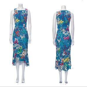 NWT Peter Pilotto Kia Floral Ruffle Midi Dress